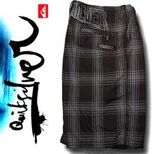 Quiksilver Plaid  Shorts 36
